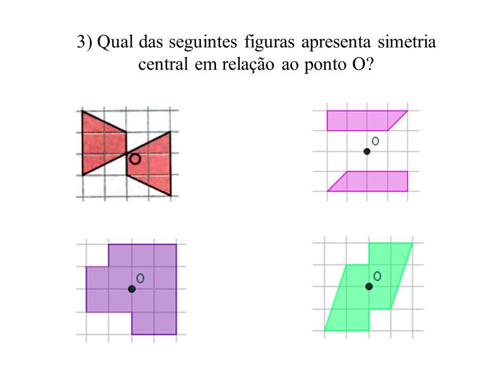 Atividades 2) Qual das seguintes figuras apresenta simetria axial? Trace o eixo de simetria de cada uma delas.