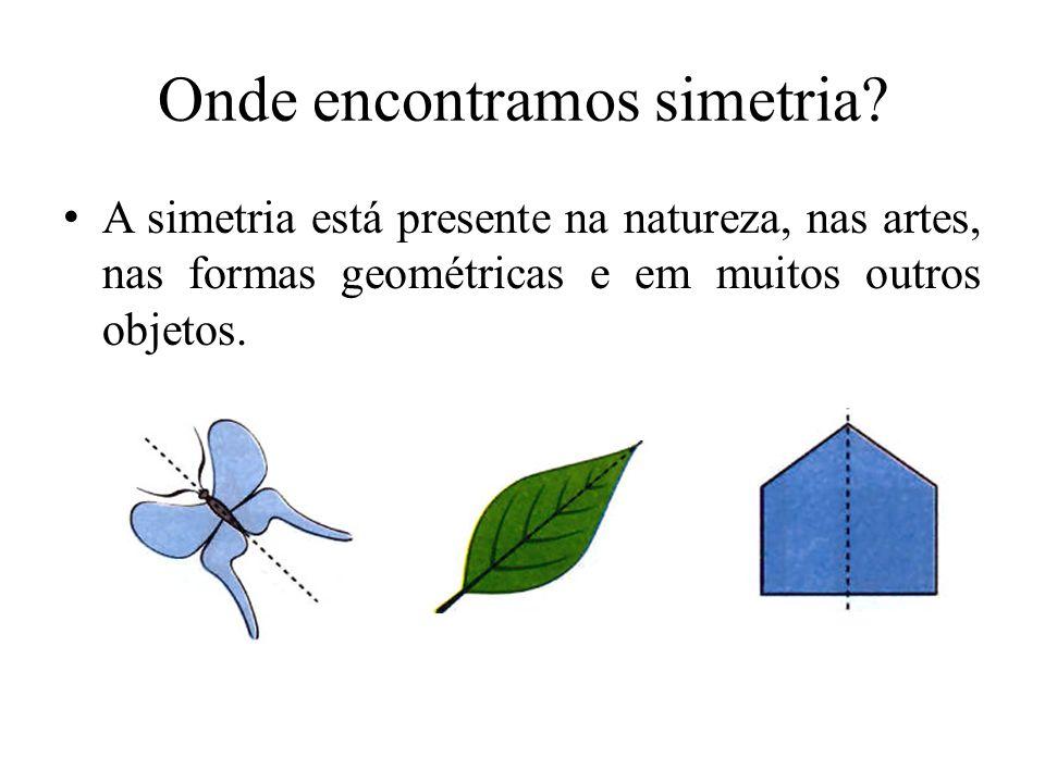 O que é simetria? É uma transformação geométrica que conserva propriedades métricas. Podemos dizer que uma figura é simétrica se apresenta um padrão q