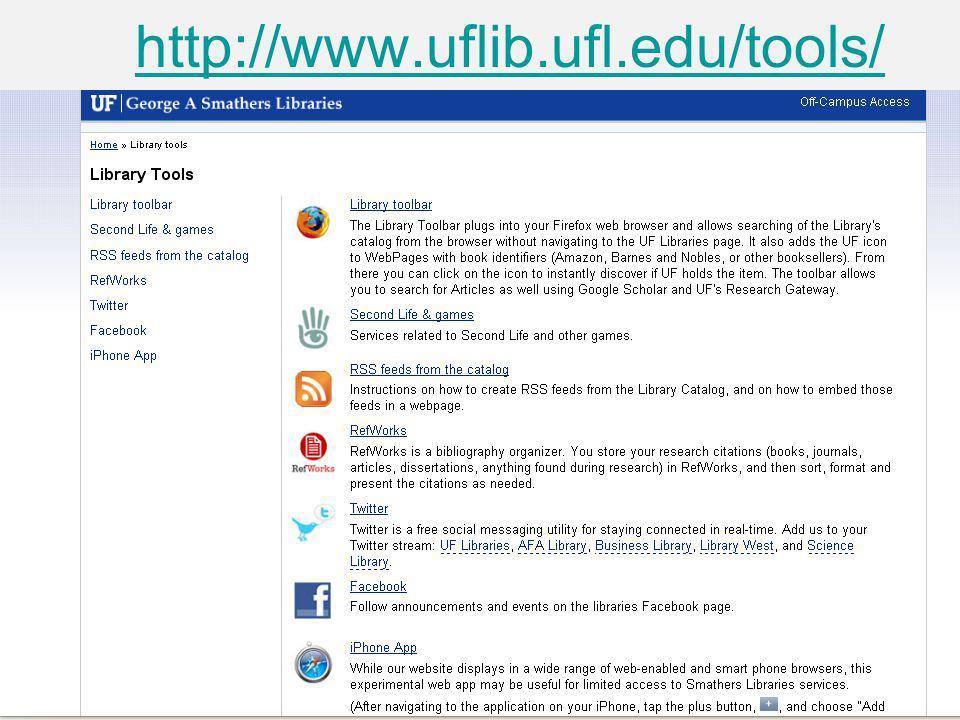 http://www.uflib.ufl.edu/tools/