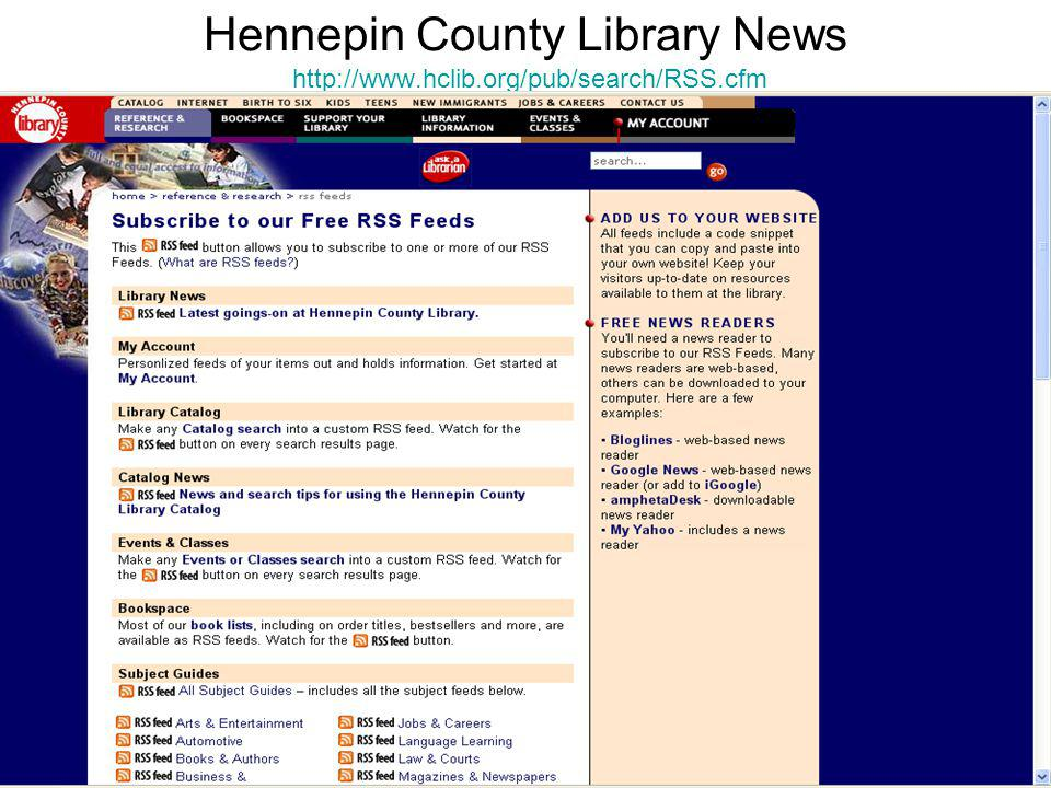 Hennepin County Library News http://www.hclib.org/pub/search/RSS.cfm http://www.hclib.org/pub/search/RSS.cfm