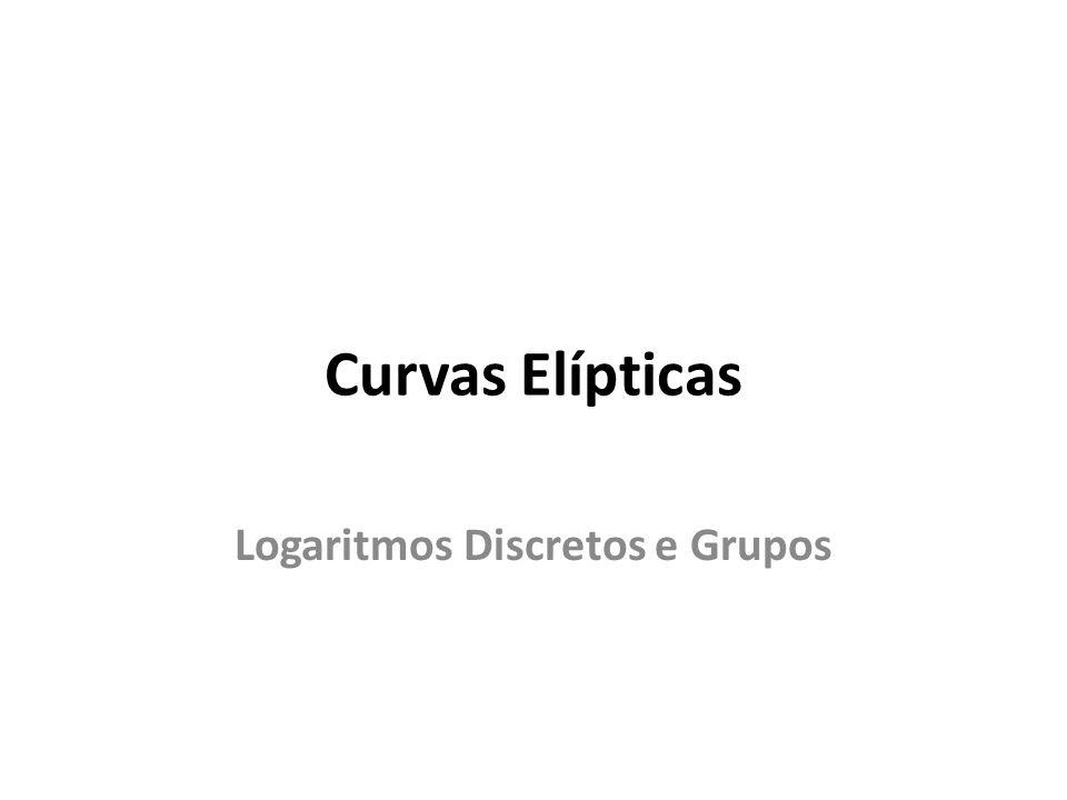 Curvas Elípticas Logaritmos Discretos e Grupos