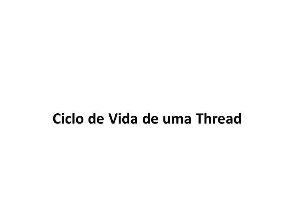 Estados das Threads em Java Nascimento Pronta: poderia ser executada, mas o processador está ocupado.