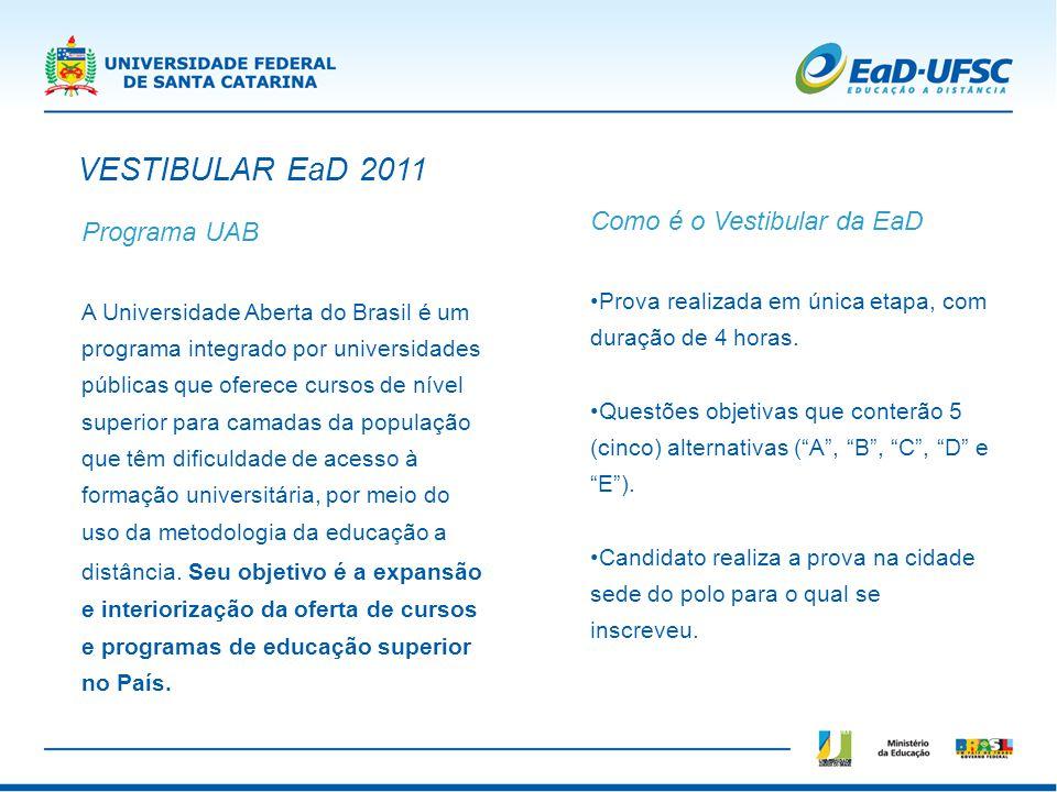 Programa UAB A Universidade Aberta do Brasil é um programa integrado por universidades públicas que oferece cursos de nível superior para camadas da p