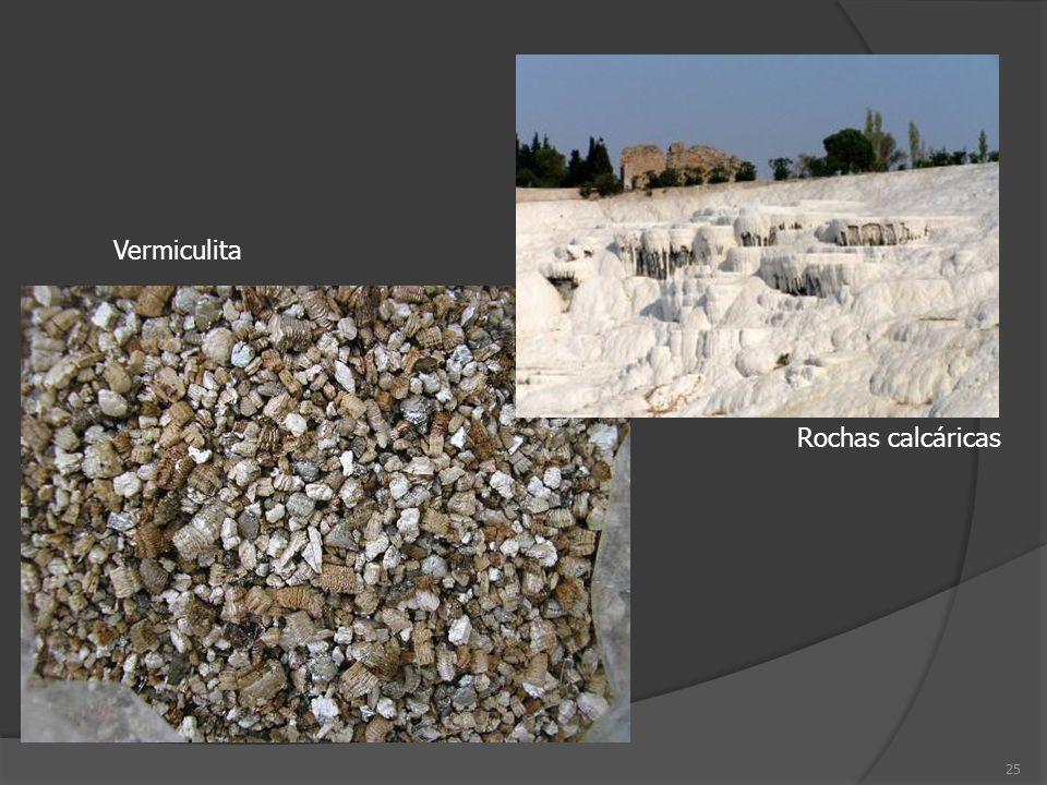 25 Rochas calcáricas Vermiculita