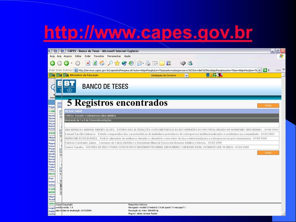http://www.capes.gov.br 5 Registros encontrados