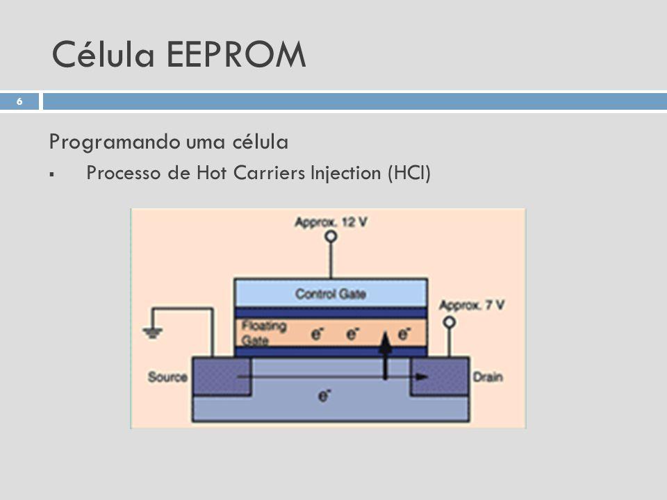 Célula EEPROM Programando uma célula Processo de Hot Carriers Injection (HCI) 6