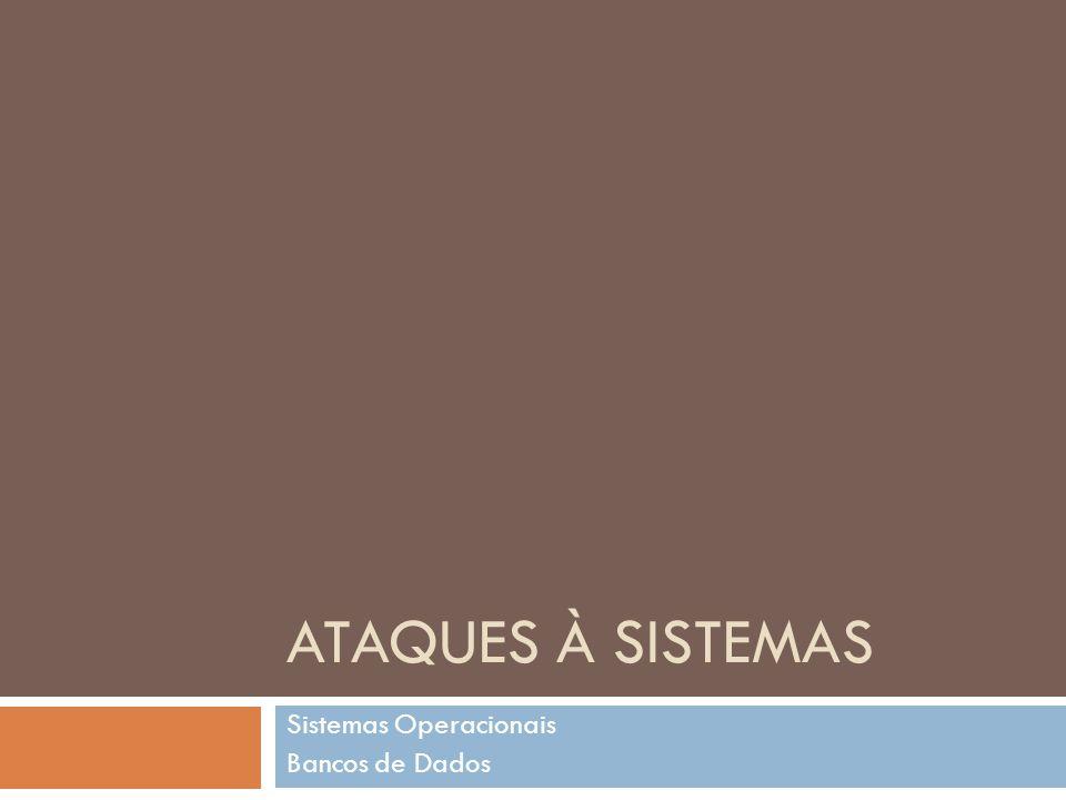 ATAQUES À SISTEMAS Sistemas Operacionais Bancos de Dados