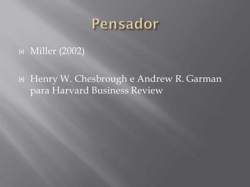 Miller (2002) Henry W. Chesbrough e Andrew R. Garman para Harvard Business Review