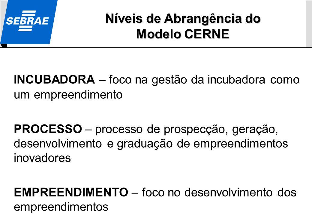 0800 570 0800 / www.sebrae.com.br SEBRAE INCUBADORA – foco na gestão da incubadora como um empreendimento PROCESSO – processo de prospecção, geração,