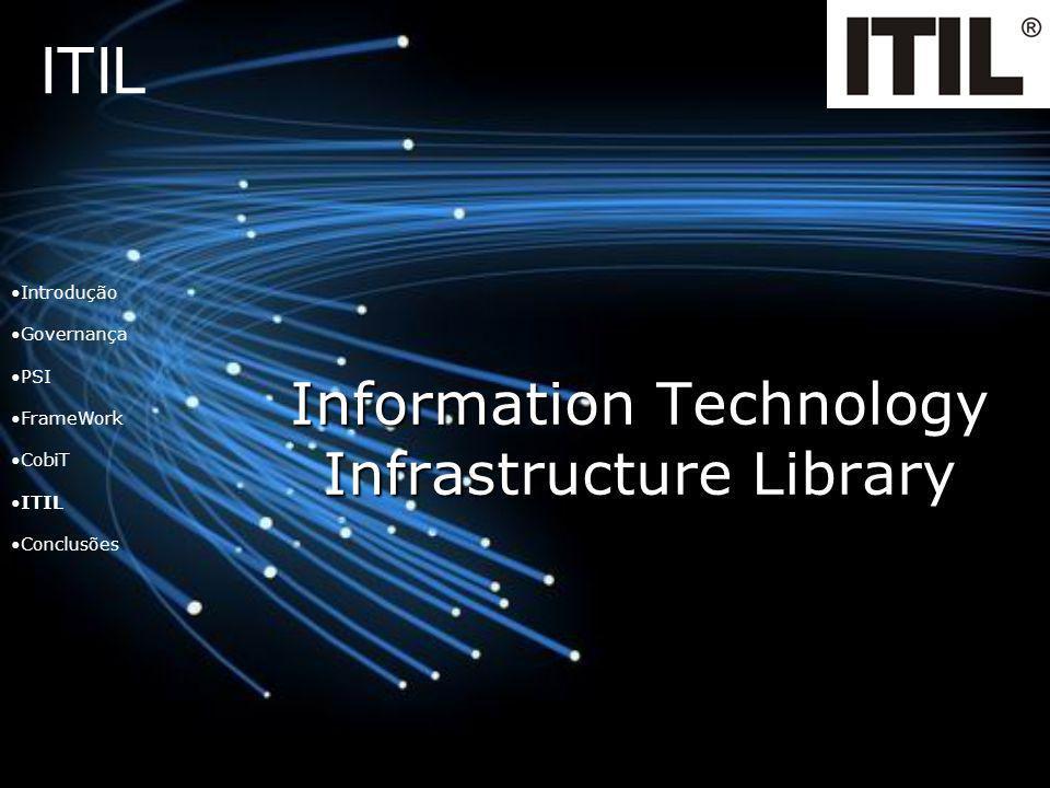 ITIL Information Technology Infrastructure Library Introdução Governança PSI FrameWork CobiT ITIL Conclusões