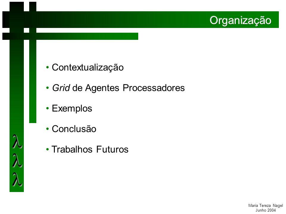 Maria Tereza Nagel Junho 2004 A gerência centralizada pode levar a situações onde não se tem recursos computacionais suficientes para um gerenciamento eficiente.