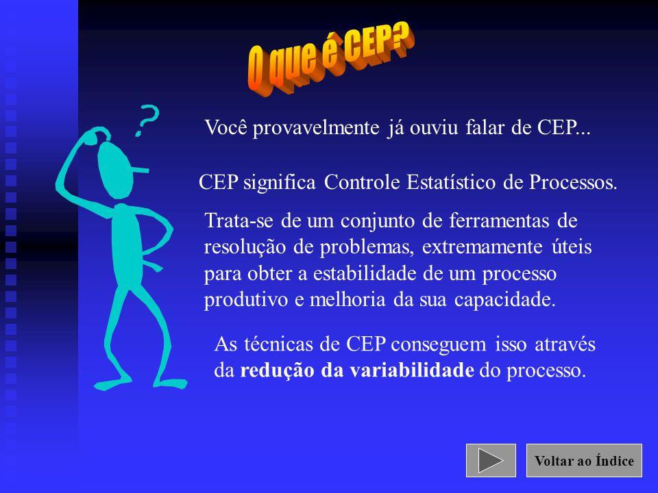 Você provavelmente já ouviu falar de CEP... CEP significa Controle Estatístico de Processos. Trata-se de um conjunto de ferramentas de resolução de pr