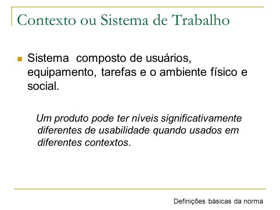 Estrutura geral para especificar usabilidade