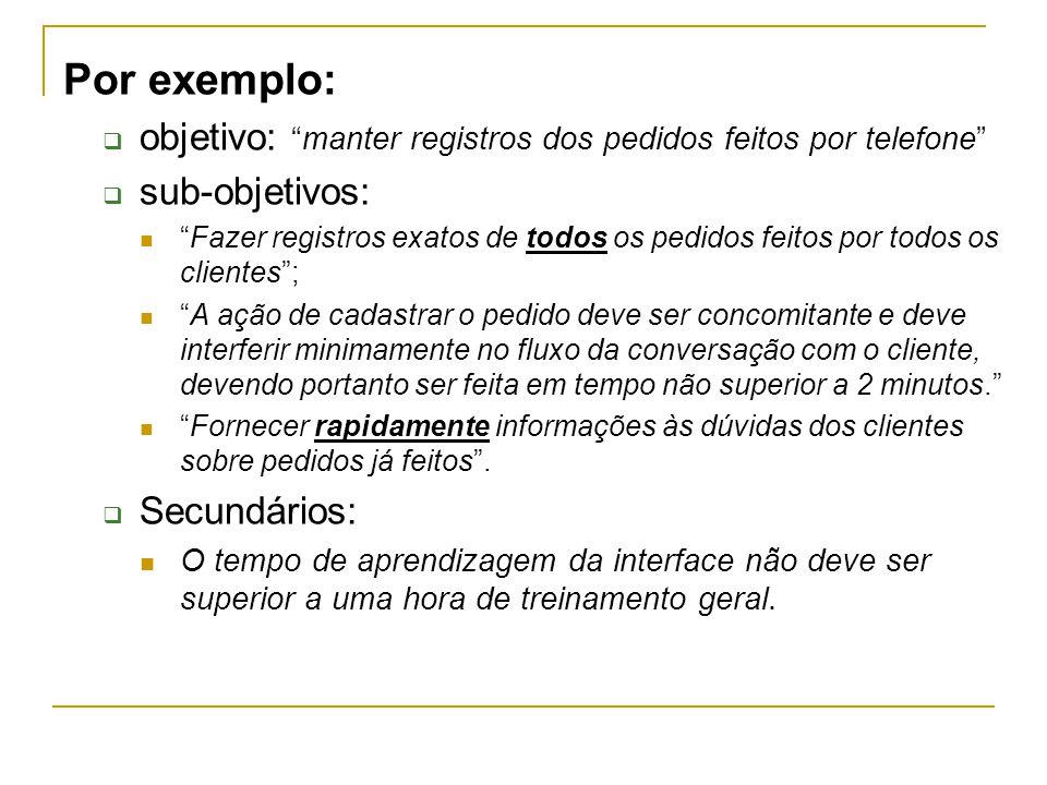 Contexto de uso Descrição de usuários Conhecimento da tarefa, habilidade, experiência, educação, funções, treinamento, capacidades sensoriais e motoras.