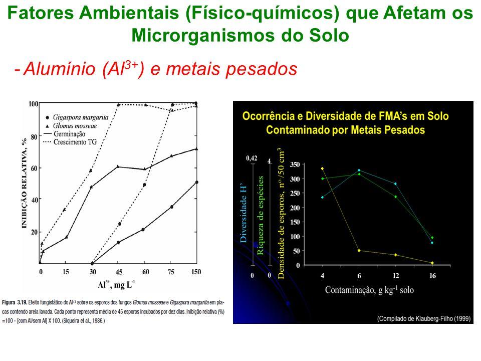 Fatores Ambientais (Físico-químicos) que Afetam os Microrganismos do Solo -Alumínio (Al 3+ ) e metais pesados