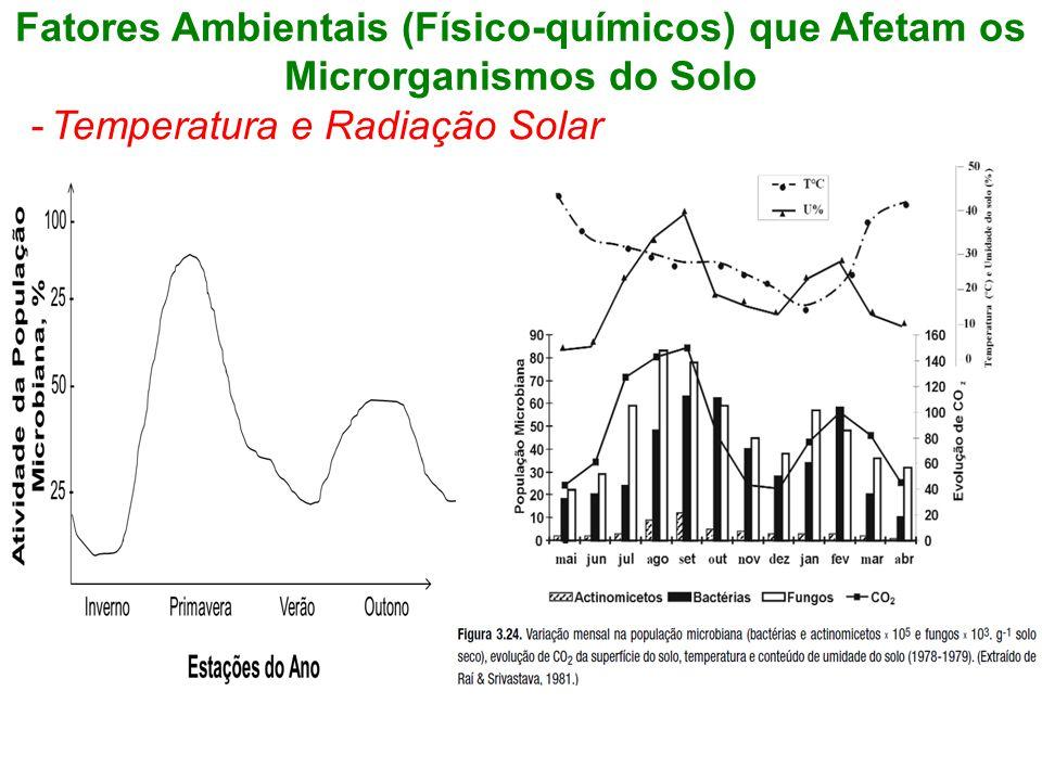 Fatores Ambientais (Físico-químicos) que Afetam os Microrganismos do Solo -Temperatura e Radiação Solar