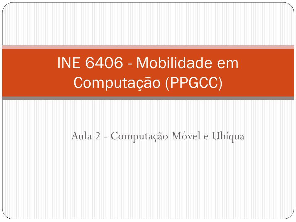 Aula 2 - Computação Móvel e Ubíqua INE 6406 - Mobilidade em Computação (PPGCC)