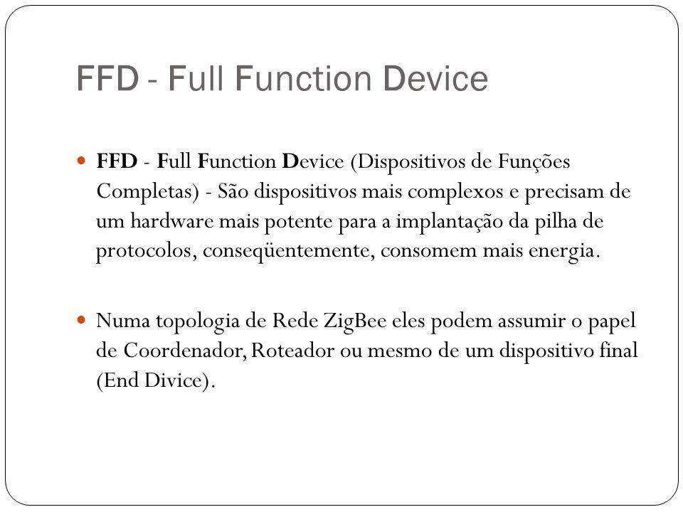 FFD - Full Function Device FFD - Full Function Device (Dispositivos de Funções Completas) - São dispositivos mais complexos e precisam de um hardware