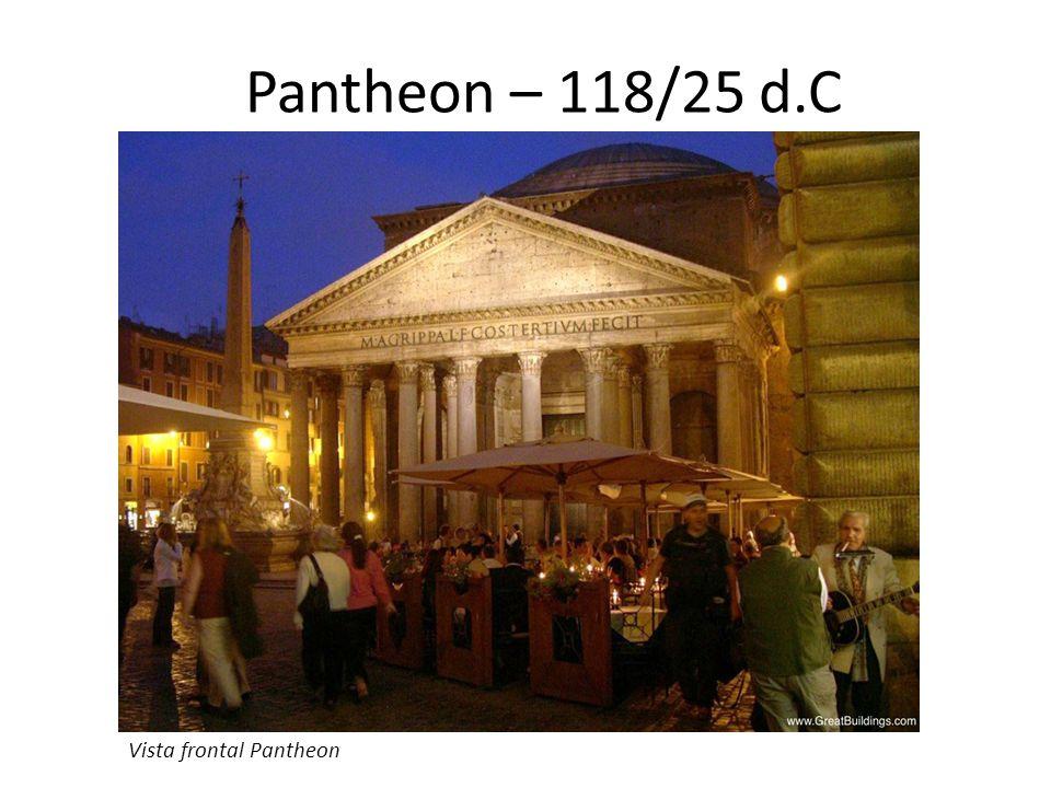 Circulação / Espaço uso Pantheon – 118/25 d.C segundo Pause e Clark