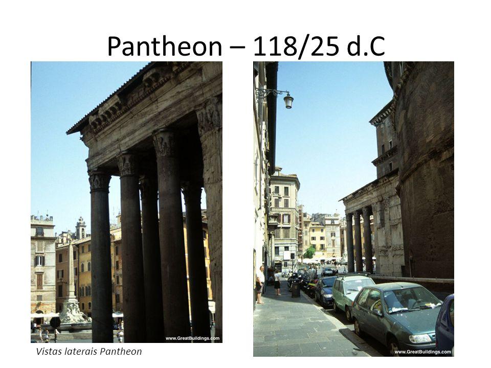 Pantheon – 118/25 d.C Vistas laterais Pantheon