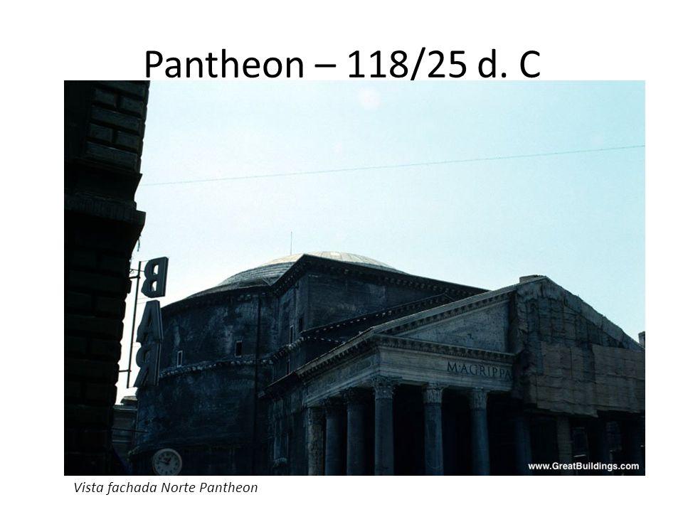 Pantheon – 118/25 d. C Vista fachada Norte Pantheon