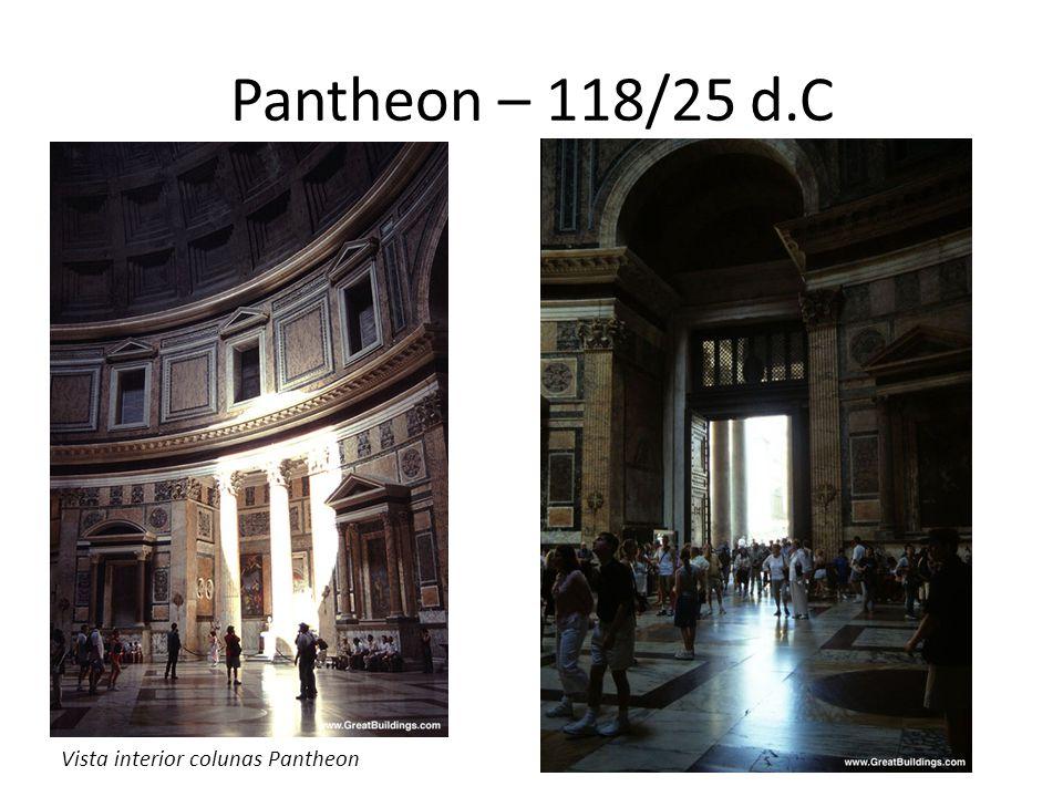 Pantheon – 118/25 d.C Vista interior colunas Pantheon