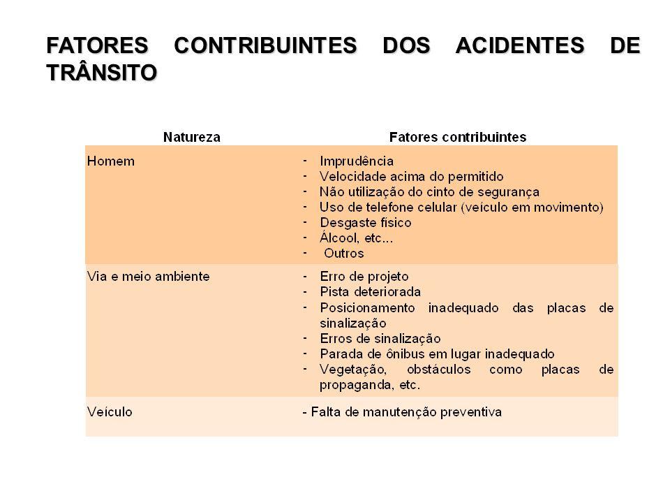 CONCLUSÃO Os acidentes de trânsito matam o quádruplo do que guerras e conflito, aponta a OMS (Organização Mundial da Saúde), sobre dados concluídos em 12/05/2003, tendo como referencial o ano de 2000.