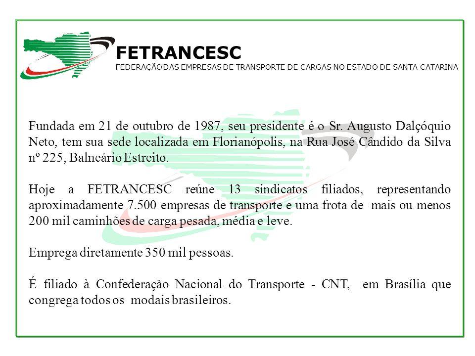 Qual a importância da FETRANCESC junto à sociedade catarinense, o que ela representa e que papel ela desempenha.