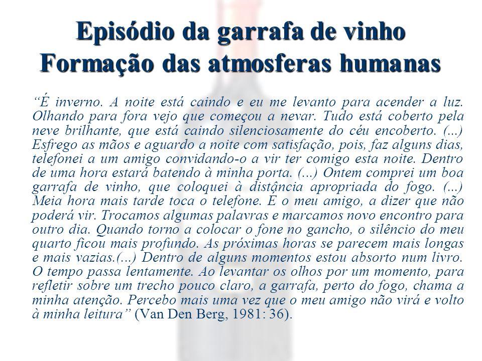 Episódio da garrafa de vinho Formação das atmosferas humanas É inverno.