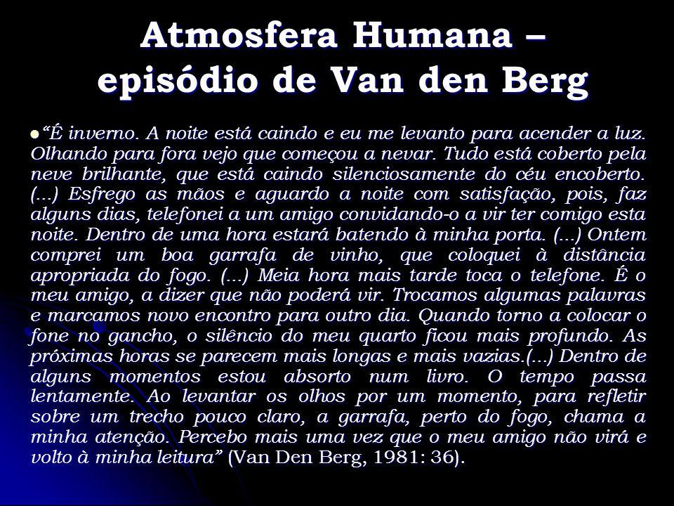 Atmosfera Humana – episódio de Van den Berg É inverno. A noite está caindo e eu me levanto para acender a luz. Olhando para fora vejo que começou a ne