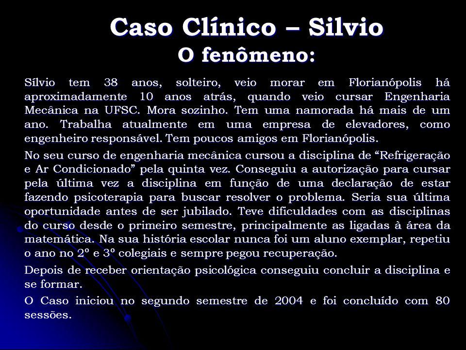 Caso Clínico – Silvio O fenômeno: Sílvio tem 38 anos, solteiro, veio morar em Florianópolis há aproximadamente 10 anos atrás, quando veio cursar Engen