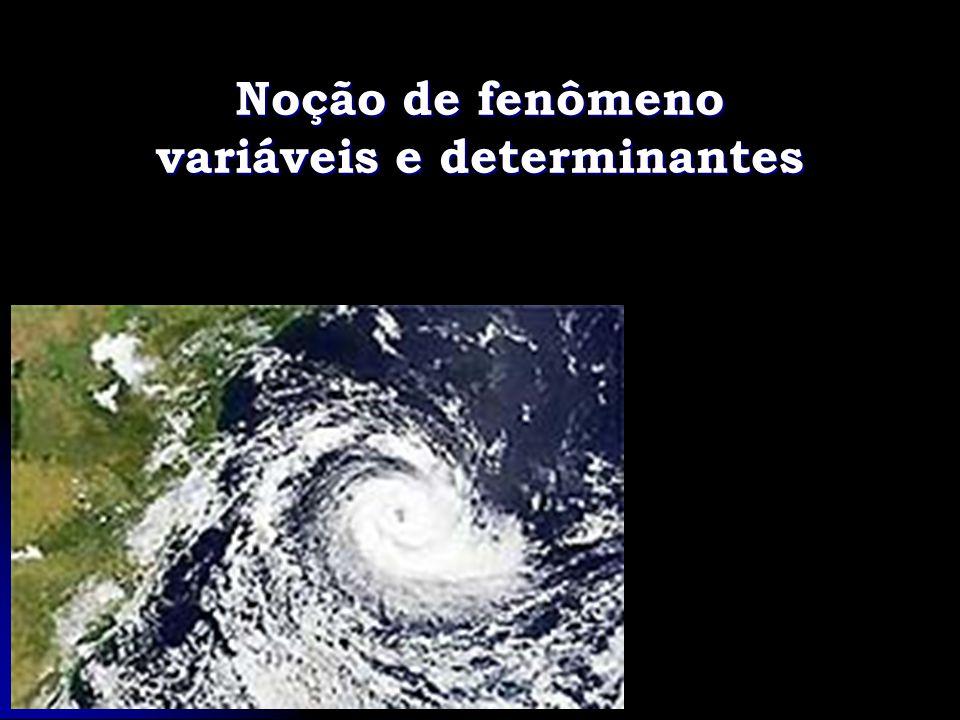 Noção de fenômeno variáveis e determinantes