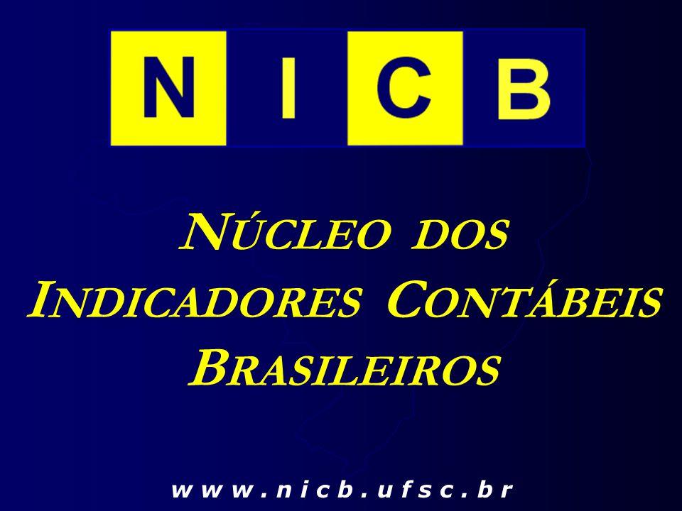 N ÚCLEO DOS I NDICADORES C ONTÁBEIS B RASILEIROS w w w. n i c b. u f s c. b r