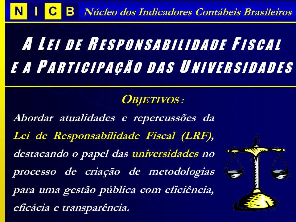 I NDICADORES C ONTÁBEIS B RASILEIROS - ICBs Núcleo dos Indicadores Contábeis Brasileiros P ERFIL DAS D ESPESAS M UNICIPAIS AMOSTRA: ICBs Grande Florianópolis