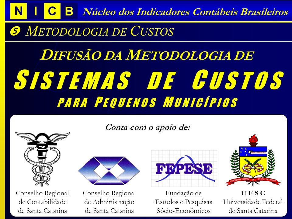 Núcleo dos Indicadores Contábeis Brasileiros Conselho Regional de Contabilidade de Santa Catarina Conselho Regional de Administração de Santa Catarina