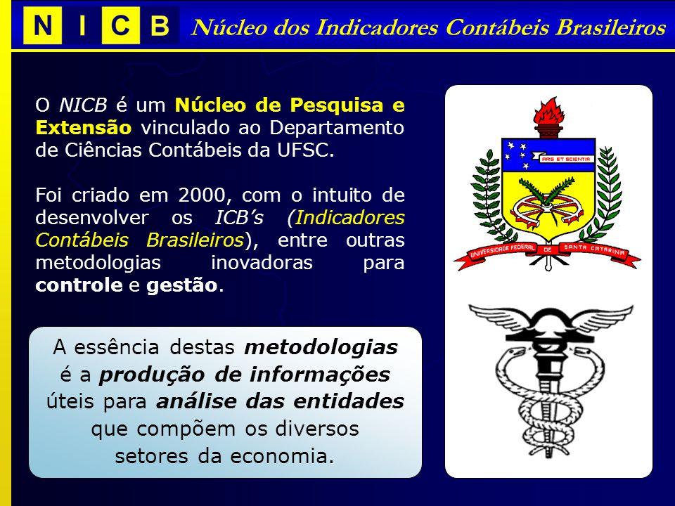 Núcleo dos Indicadores Contábeis Brasileiros O NICB é um Núcleo de Pesquisa e Extensão vinculado ao Departamento de Ciências Contábeis da UFSC. Foi cr