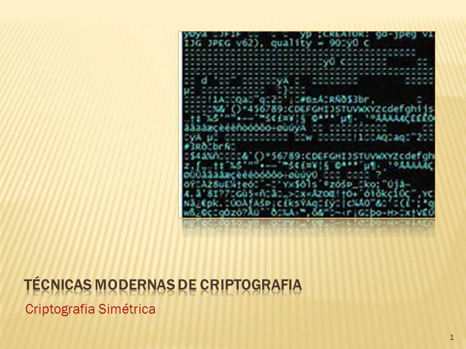 1 Criptografia Simétrica