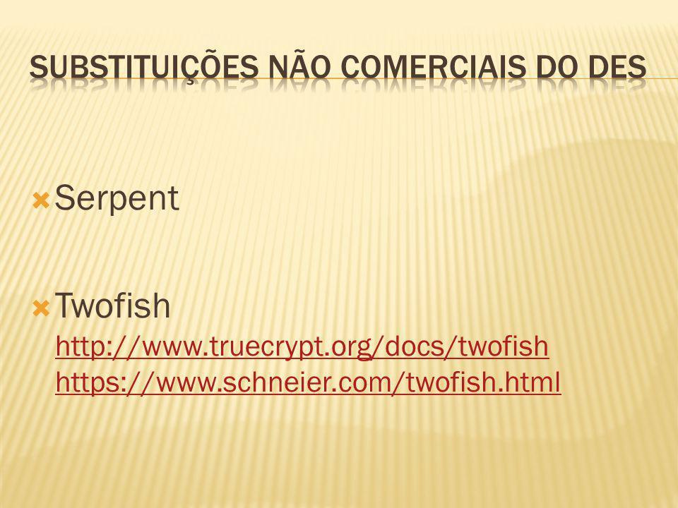 Serpent Twofish http://www.truecrypt.org/docs/twofish https://www.schneier.com/twofish.html http://www.truecrypt.org/docs/twofish https://www.schneier