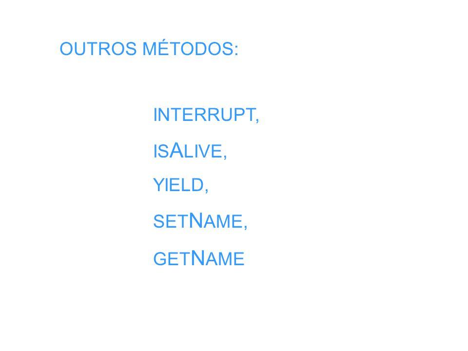 import java.io.*; public class Thrdestino extends Thread { InputStream pipe; InputStream entrada; // fonte ObjMsg objMsg; public Thrdestino ( InputStream p ) { pipe = p; } public void run() { try { ObjectInputStream entrada = new ObjectInputStream ( pipe ); objMsg = (ObjMsg) entrada.readObject(); } catch ( Exception e ) {} objMsg.escreva(); }