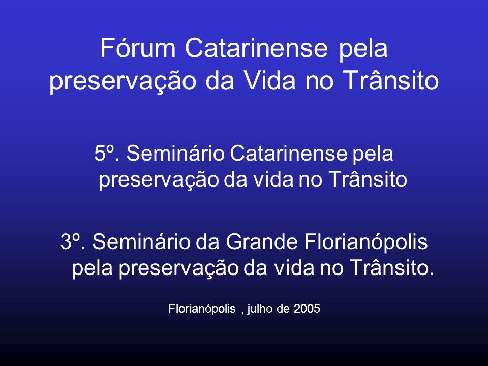 Fórum Catarinense pela preservação da Vida no Trânsito 5º. Seminário Catarinense pela preservação da vida no Trânsito 3º. Seminário da Grande Florianó