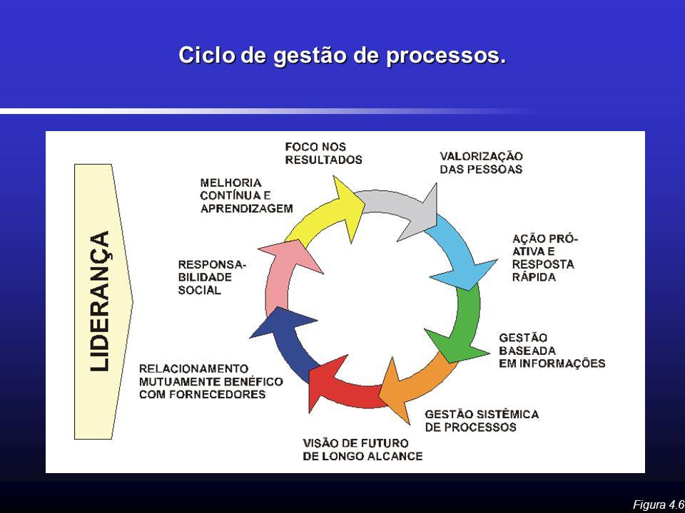 Ciclo de gestão de processos. Figura 4.6
