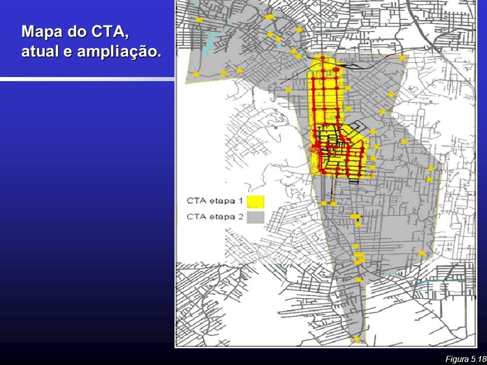 Mapa do CTA, atual e ampliação. Figura 5.18