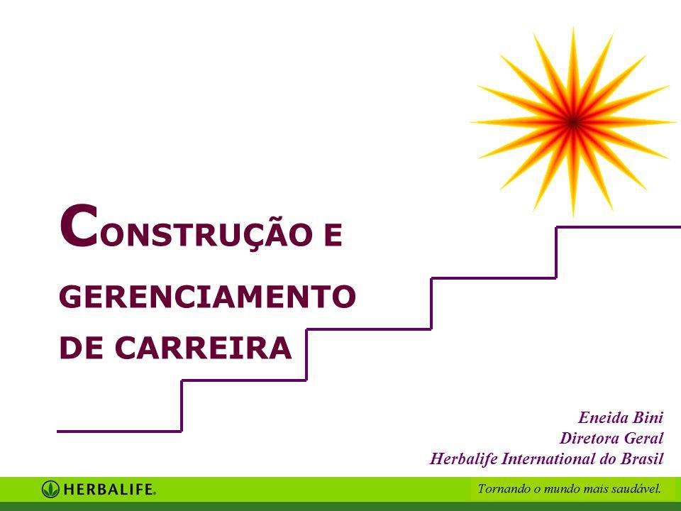 C ONSTRUÇÃO E GERENCIAMENTO DE CARREIRA Eneida Bini Diretora Geral Herbalife International do Brasil
