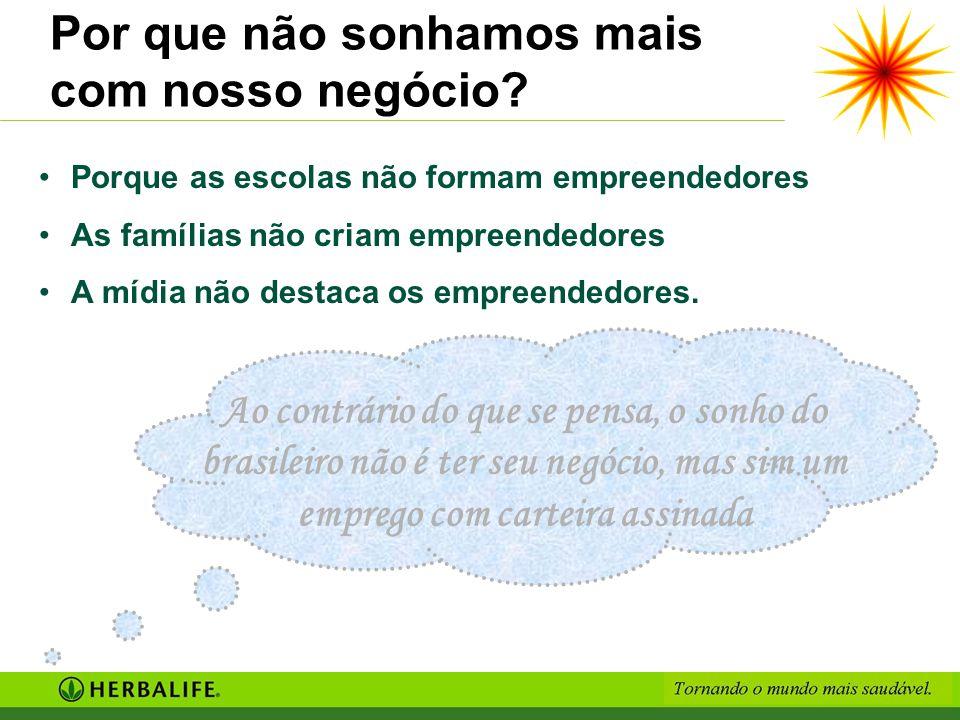 Por que não sonhamos mais com nosso negócio? Porque as escolas não formam empreendedores As famílias não criam empreendedores A mídia não destaca os e