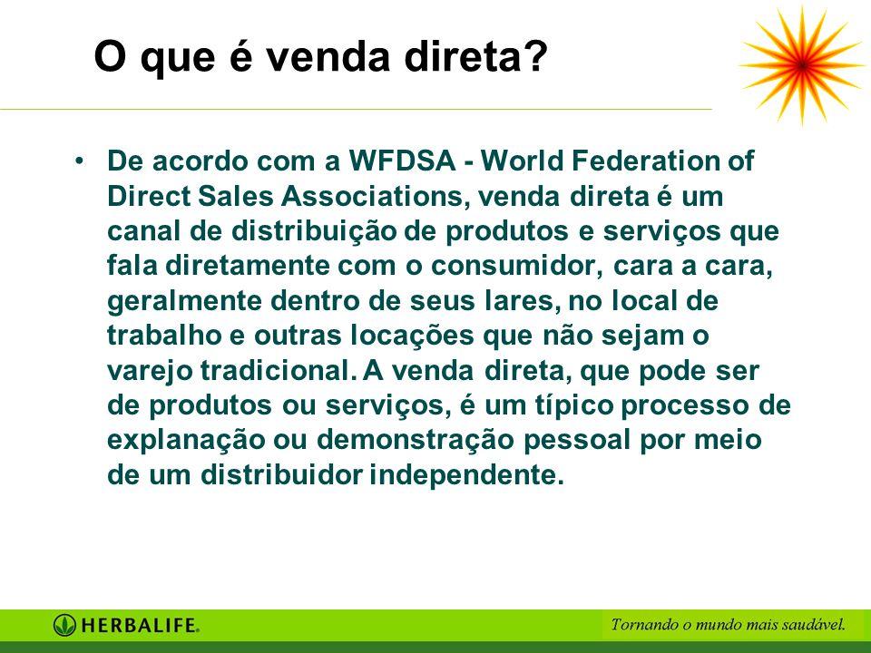 O que é venda direta? De acordo com a WFDSA - World Federation of Direct Sales Associations, venda direta é um canal de distribuição de produtos e ser