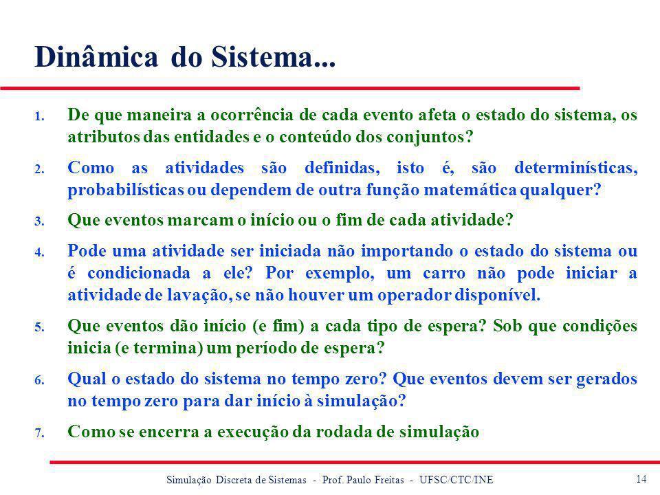 15 Simulação Discreta de Sistemas - Prof.