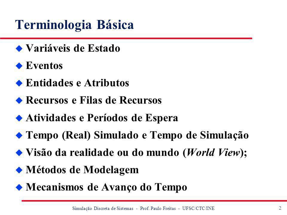 3 Simulação Discreta de Sistemas - Prof.