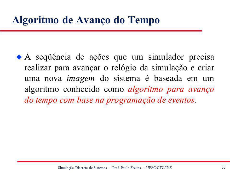 21 Simulação Discreta de Sistemas - Prof.