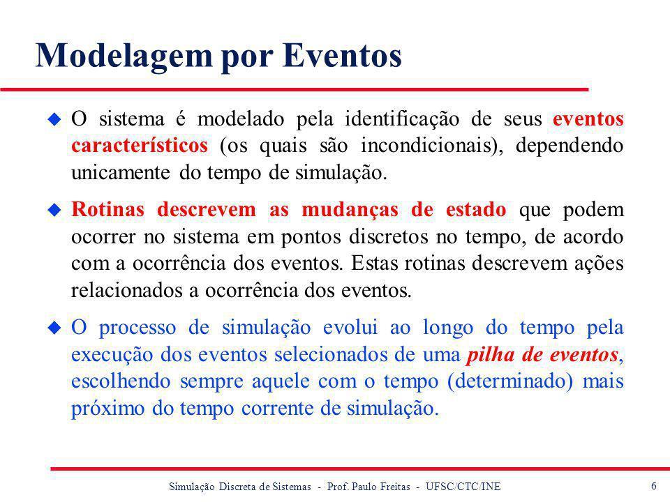 7 Simulação Discreta de Sistemas - Prof.