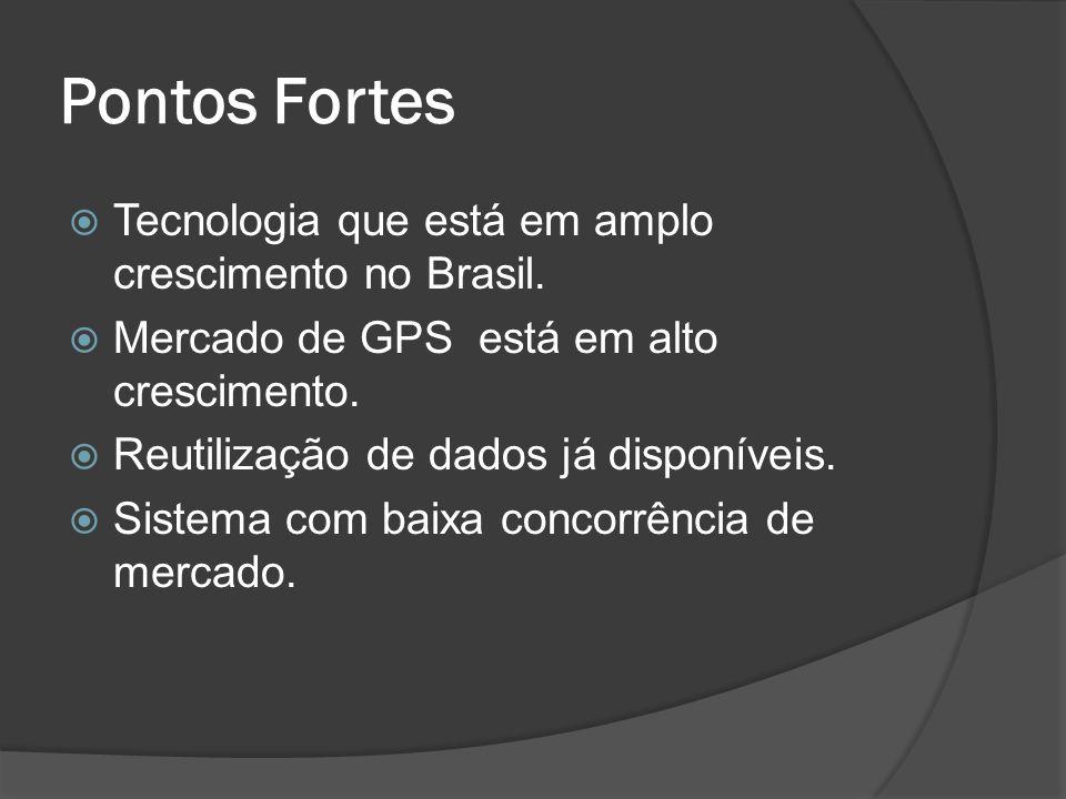 Pontos Fortes Tecnologia que está em amplo crescimento no Brasil.